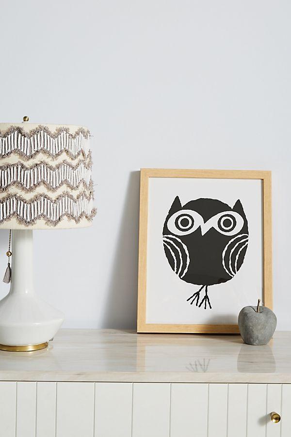 Slide View: 1: Little Owl Wall Art