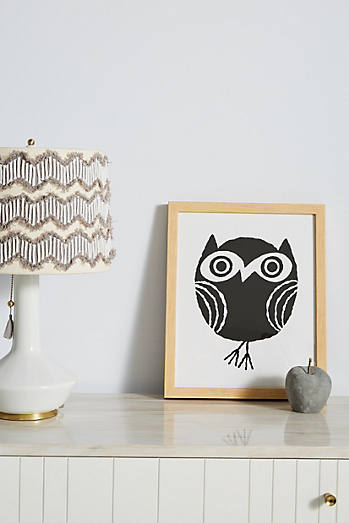 Little owl wall art