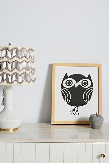 Little owl wall art