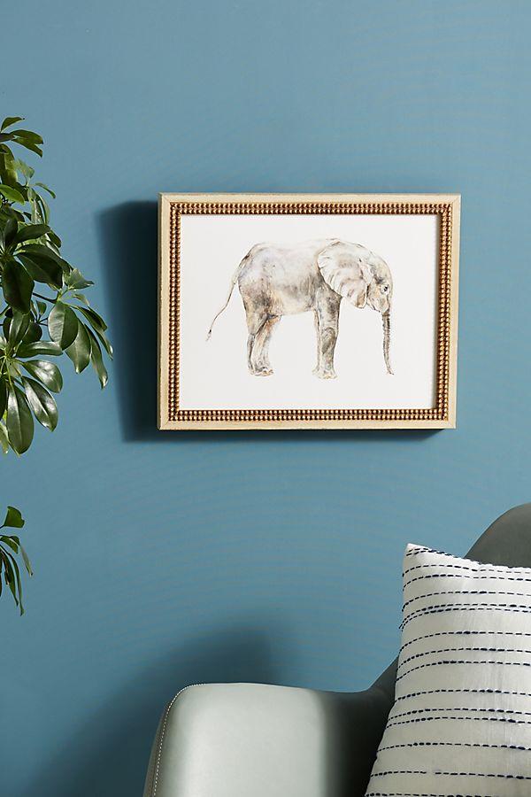 Slide View: 1: Baby Elephant Wall Art