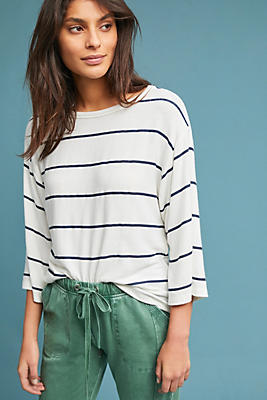 Slide View: 1: Sundry Striped Sweatshirt