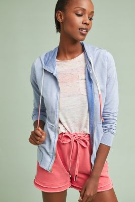 Sundry Terry Zip Up Hoodie by Sundry