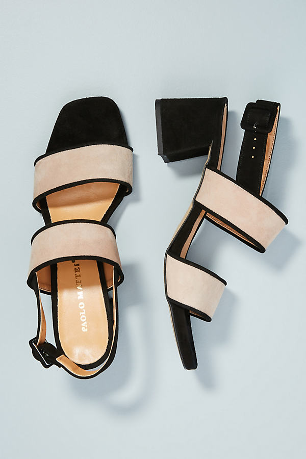 Paolo Mattei Colourblocked Heeled Sandals - Black, Size 40