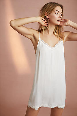 Slide View: 1: Floreat Lace-Trimmed Slip