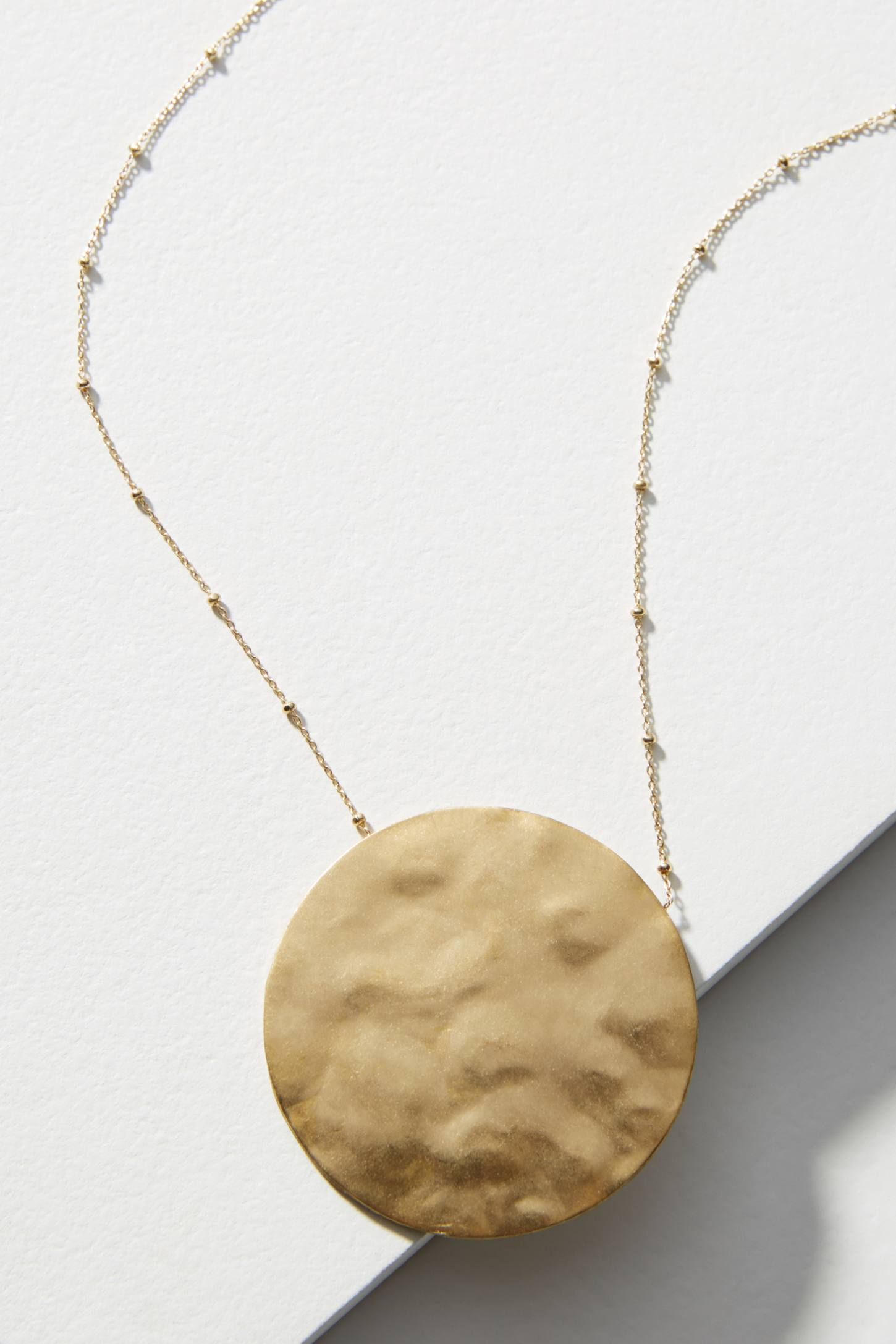 Anthropologie Antiqued Gold Pendant Necklace