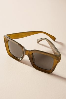 Amalia Cat-Eye Sunglasses  -    Olive Green