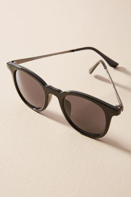 Square Cat-Eye Sunglasses  -    BLACK