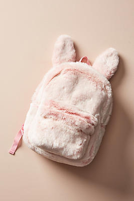 Slide View: 1: Fuzzy Bunny Backpack