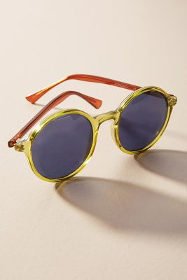 Komono   Madison Round Sunglasses  -    Tortoise