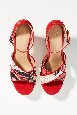 Anthropologie Impressionist Heeled Sandals by Anthropologie