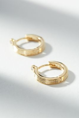 isadora-hugger-hoop-earrings by anthropologie