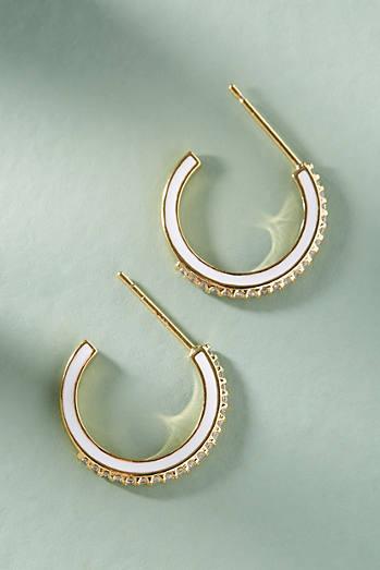 Anthropologie Galina Hoop Earrings Bh1GlgmoB