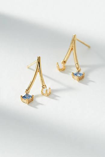 Anthropologie Amara Bejeweled Split Drop Earrings zTdO9ks7