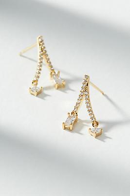 Anthropologie Amara Bejeweled Split Drop Earrings egPjkV
