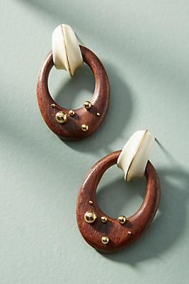 Gas Bijoux Seashore Wooden Drop Earrings jpE0rEpn