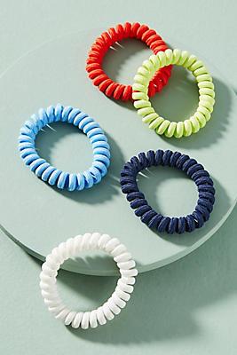Anthropologie Coiled Elastic Hair Tie Set tMHWs6zc