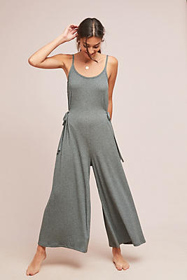 Slide View: 1: Olivia Ribbed Jumpsuit