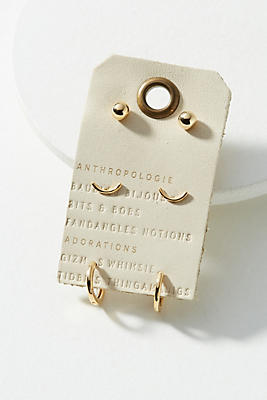 Anthropologie Everyday Post Earring Set