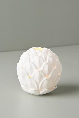 Slide View: 3: Porcelain Artichoke Votive