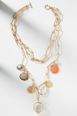 Setting Sun Layered Necklace by Anthropologie