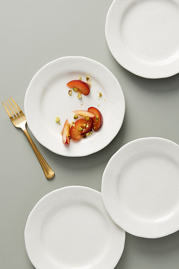 Set of 4 Cabarita Side Plates - White, Size S/4 Side P