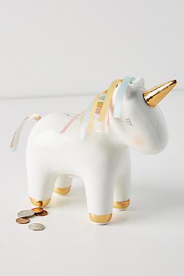 Slide View: 1: Unicorn Piggy Bank