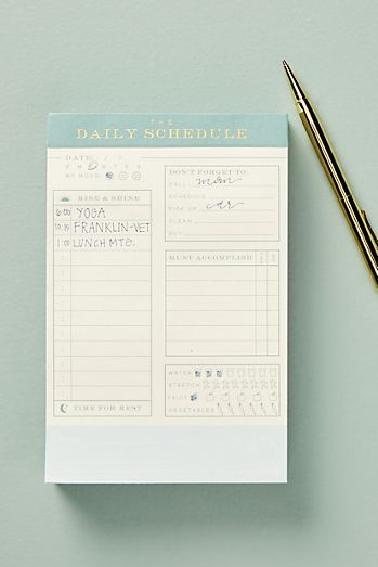 Ledger Daily Schedule Tear Away Notepad