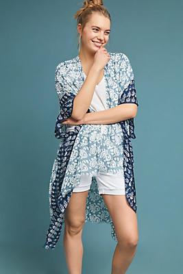 Slide View: 1: Kelly Printed Kimono