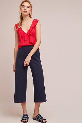 Muse Wide-Leg Terry Pants