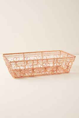 Copper Floral Bread Basket by Anthropologie