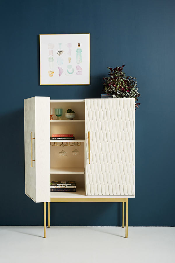 Bethan Gray Feather Collection Bar Cabinet - Beige