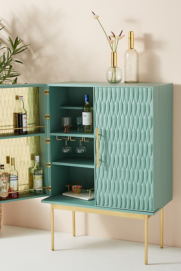 Bethan Gray Feather Collection Bar Cabinet - Mint