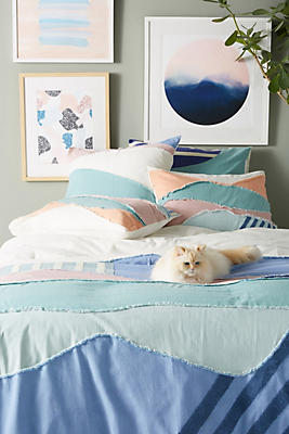 Slide View: 1: Textured Lovell Duvet Cover