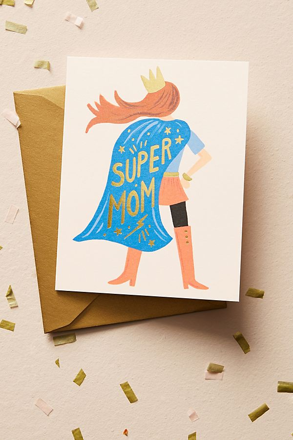 Slide View: 1: Superhero Mother's Day Card