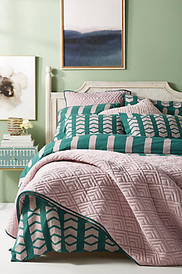 Slide View: 1: Embroidered Minerva Duvet Cover