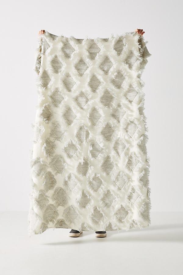 Textured Augusta Throw Blanket - Grey