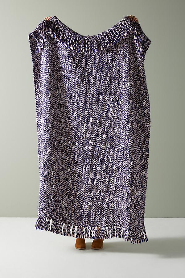 Woven Nola Throw Blanket - Blue