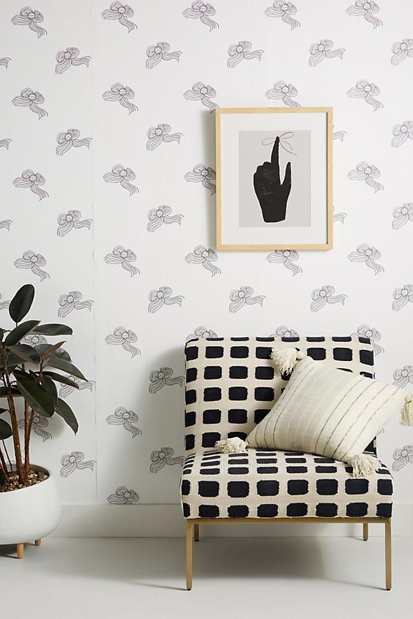 Clare V . Bows Wallpaper In Black