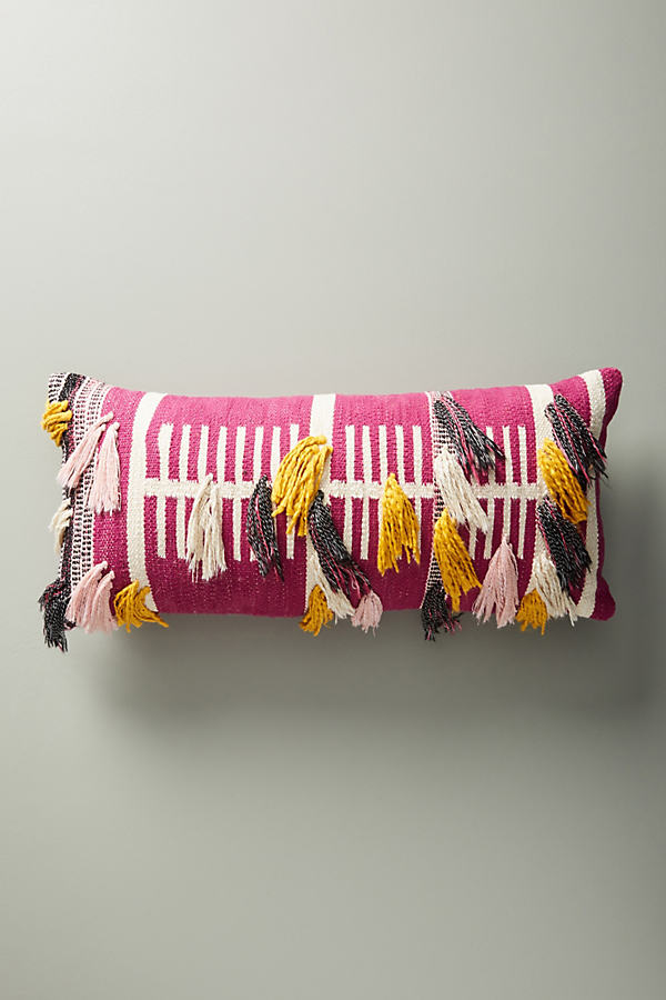 Woven Janet Cushion - Purple, Size 12 X 27