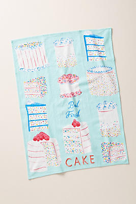 Slide View: 1: But First, Cake Dish Towel