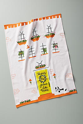 Slide View: 1: There's No Place Like Home Dish Towel