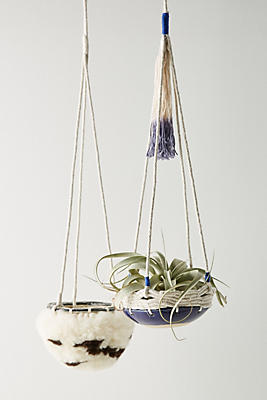 Slide View: 3: Textured Hanging Planter