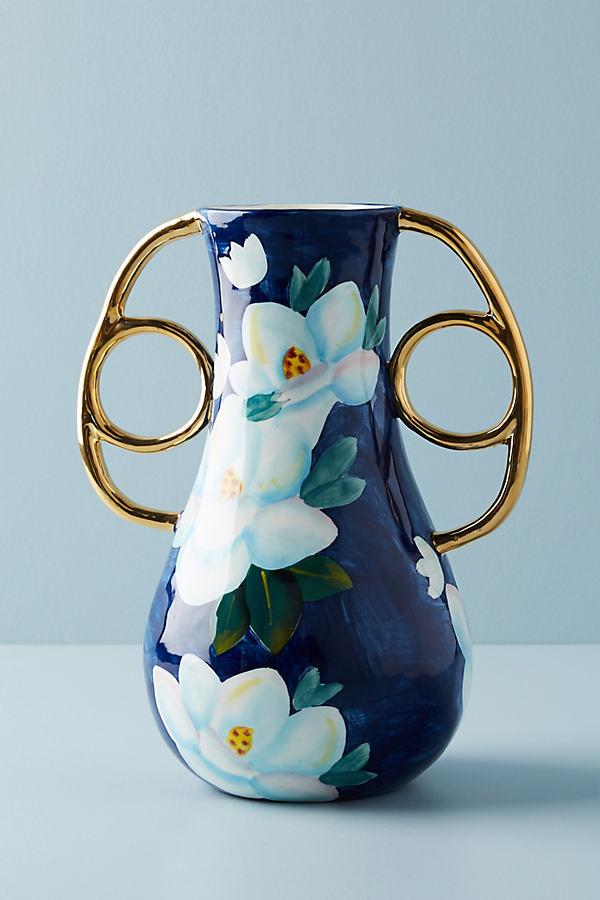 Watercolour Garden Vase - Blue, Size L