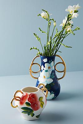 Slide View: 3: Watercolor Garden Vase