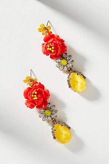 Elizabeth Cole Fire Flower Post Earrings EALXus2f8