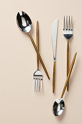 Slide View: 1: Gold-Dipped Flatware