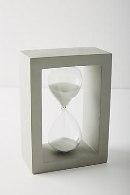 Slide View: 1: Handmade Cement Hourglass