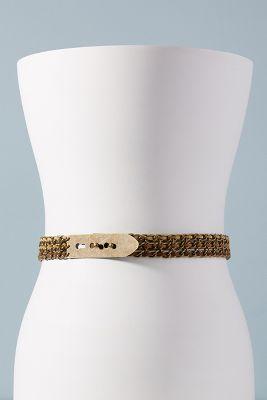 Lovestrength   Woven Sage Chain Belt  -    BROWN