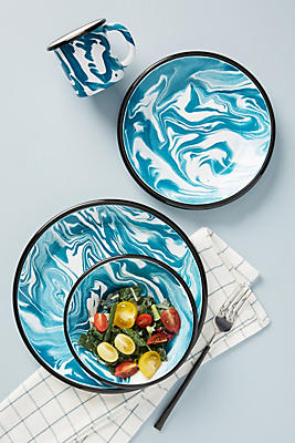 Slide View: 3: Swirled Palette Dinner Plate