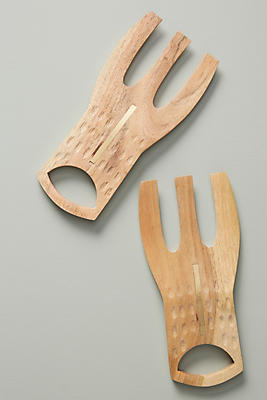 Slide View: 1: Asha Salad Servers, Set of 2